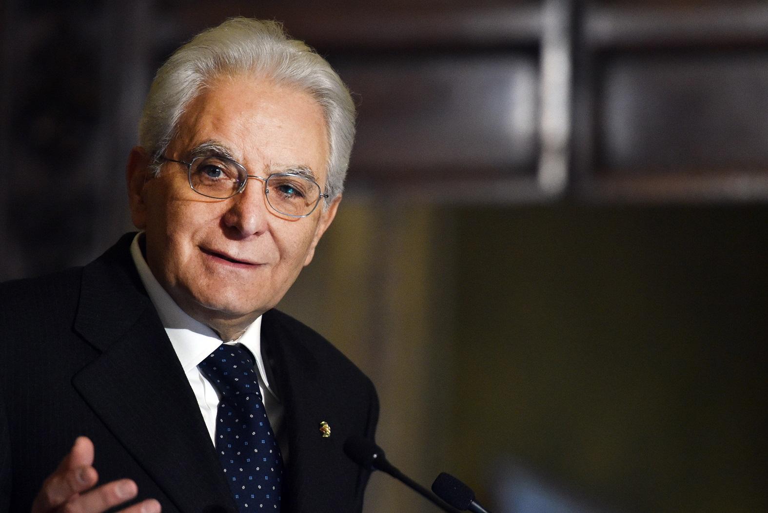 Macri recibe a Mattarella en la Casa de Gobierno