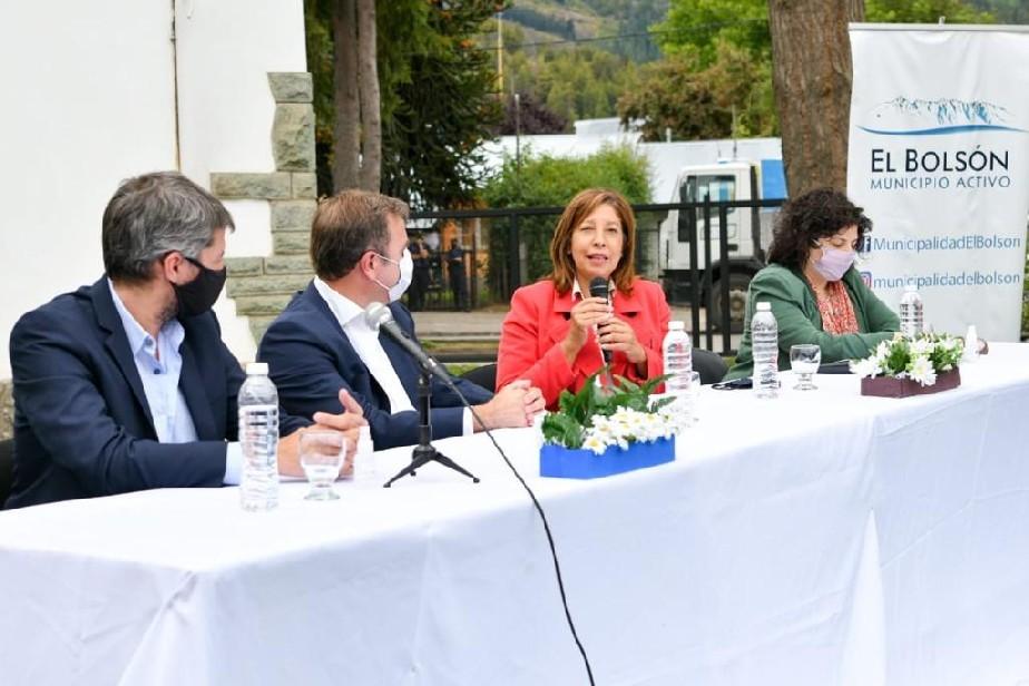 Carreras junto al ministro Lammens visitaron El Bolsón